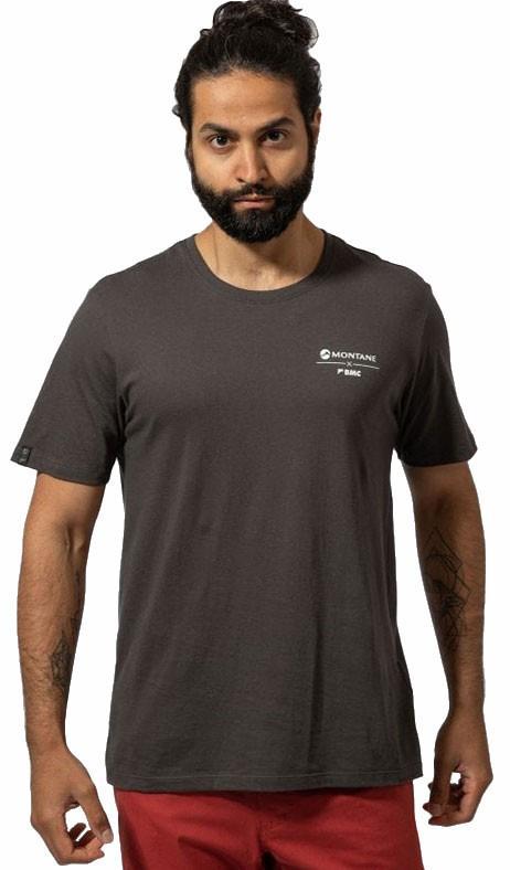 Montane Adult Unisex X Bmc Crag Calls Short Sleeve Climbing T-Shirt, S Charcoal