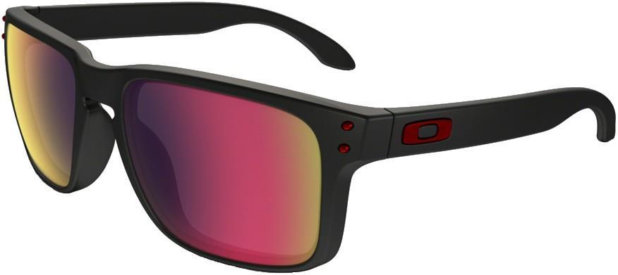 Oakley Holbrook Sunglasses M/L Matte Black Positive Red Iridium
