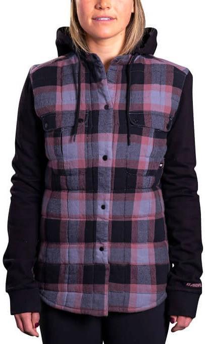 Armada Ruston Flannel Hoodie Women's Insulated Jacket, M Charcoal