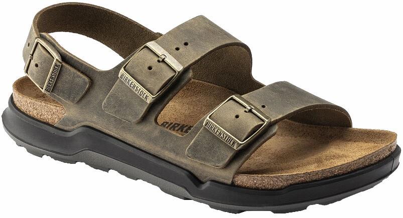 Birkenstock Adult Unisex Milano Ct Oiled Leather Sandal, Uk 9.5/10 Faded Khaki