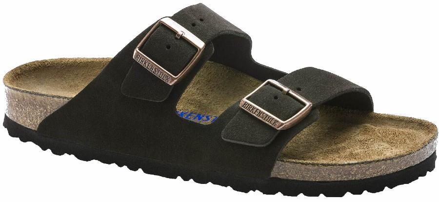 Birkenstock Arizona SFB Women's Suede Sandals, UK 4/4.5 Mocha