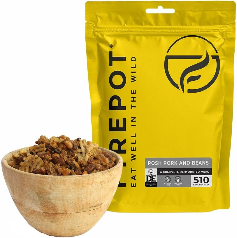 Firepot Posh Pork & Beans Camping & Backpacking Food, Single Pouch