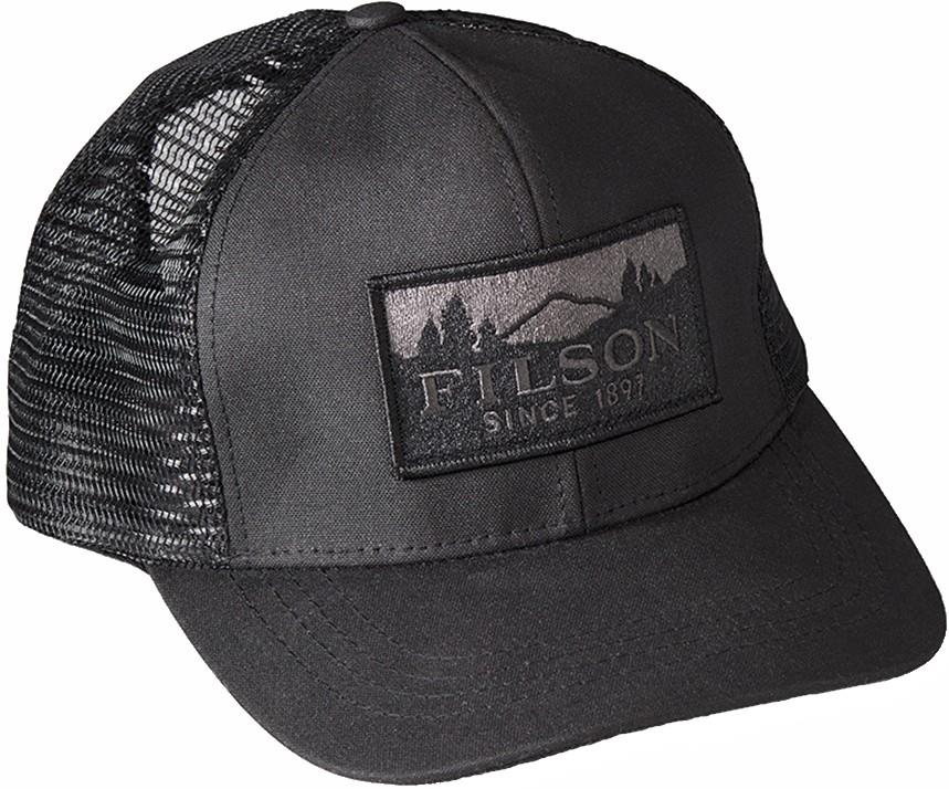 Filson Mesh Logger Trucker Cap, Adjustable Black