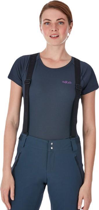 Rab Pulse SS Tee Women's T-Shirt, UK 10 Ebony