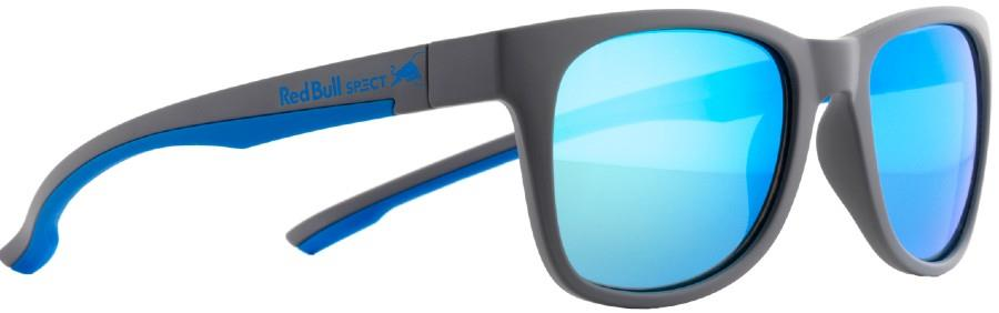 Red Bull Spect Indy Green Aqua Mirror Polarised Sunglasses, Matte Grey