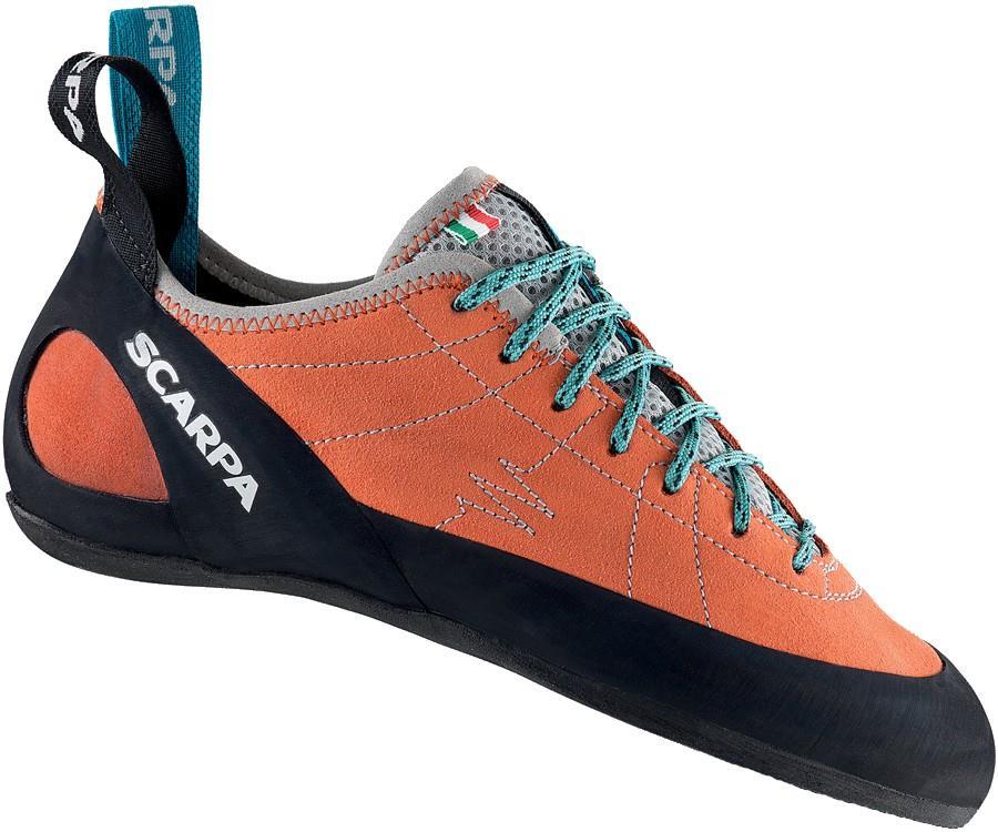 Scarpa Helix Rock Climbing Shoe: UK 3.5 | EU 36, Orange