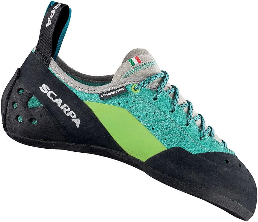 Scarpa Maestro Rock Climbing Shoe : UK 4.5 | EU 37.5, Teal