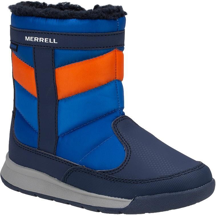 Merrell Child Unisex Alpine Puffer Wtrpf Kid's Winter Boots, Uk 1 Navy/Orange