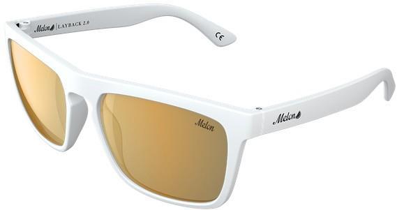 Melon Layback 2.0 Gold Chrome Polarized Sunglasses, M/L Vice