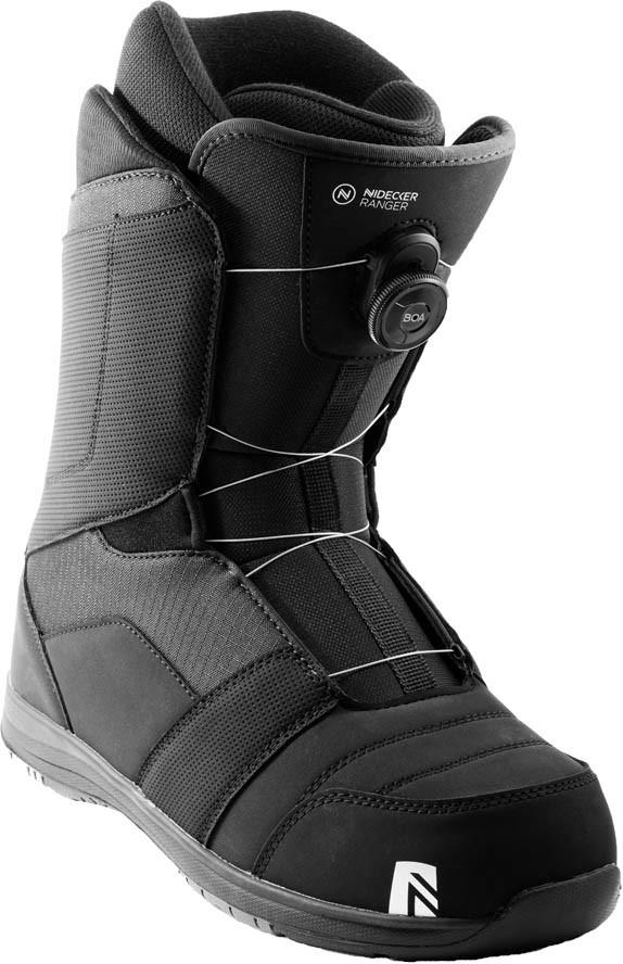Nidecker Mens Ranger Boa Snowboard Boots, Uk 9 Black 2021