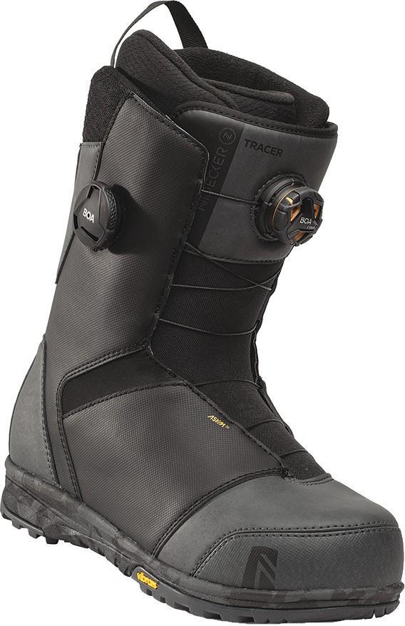 Nidecker Mens Tracer Focus Boa Snowboard Boots, Uk 9 Black Charcoal 2022