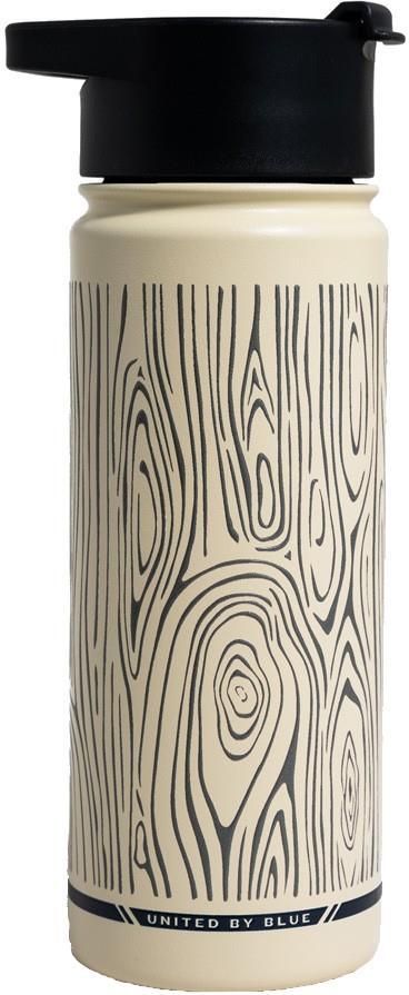 United By Blue Woodgrain Vacuum Insulated Water Bottle 22oz Eggshell