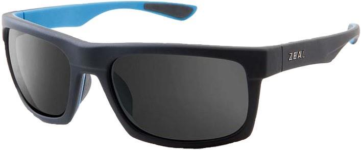 Zeal Drifter Sunglasses M Matte Black Azure Dark Grey