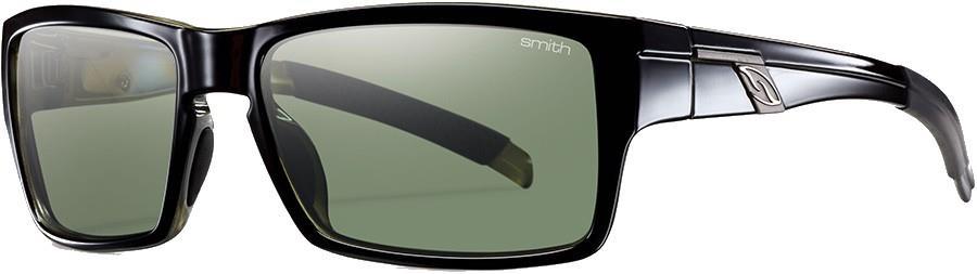 Smith Outlier Grey Green Sunglasses, M Shiny Black