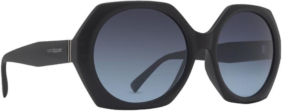 Von Zipper Buelah Grey Blue Gradient Lens Sunglasses, M Black Satin