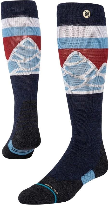 Stance Snow Merino Wool Unisex Ski/Snowboard Socks, M Spillway Navy