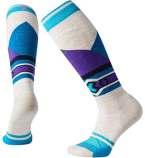 Smartwool PHD Ski Light Elite Pattern Women's Ski Socks, M Moonbeam