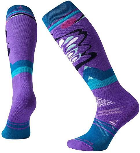 Smartwool PhD® Ski Medium Pattern Women's Ski Socks, S Desert Orchid