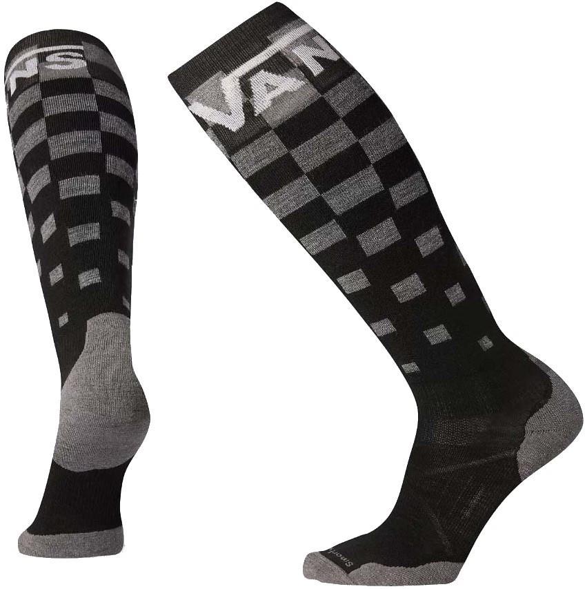 Smartwool PhD Snowboard Vans Light Elite Snowboard Socks, M Checker