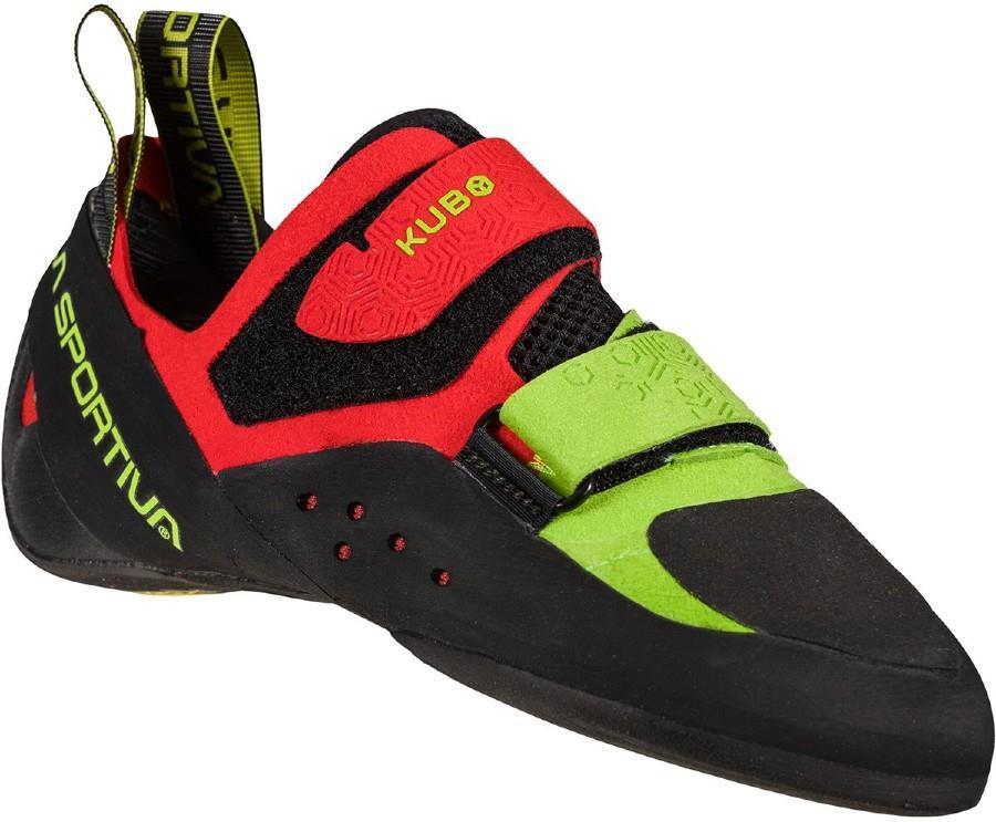 La Sportiva Kubo Rock Climbing Shoe, UK 10.5 | EU 45 Goji / Neon
