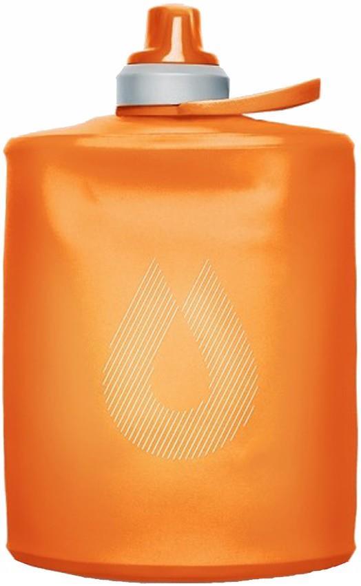HydraPak Stow Bottle Collapsible Drinks Bottle, 500ml Mojave Orange