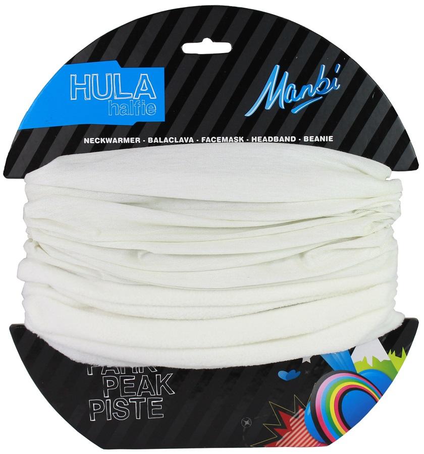 Manbi Hula Halfie Plain Thermal Neck Tube, Winter White