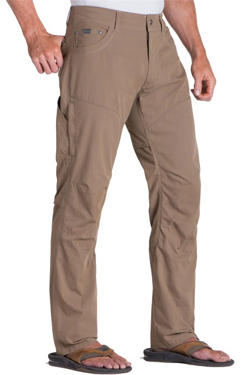 Kuhl Konfidant Air Pant Regular Ventilated Trousers, 34/32 Dark Khaki