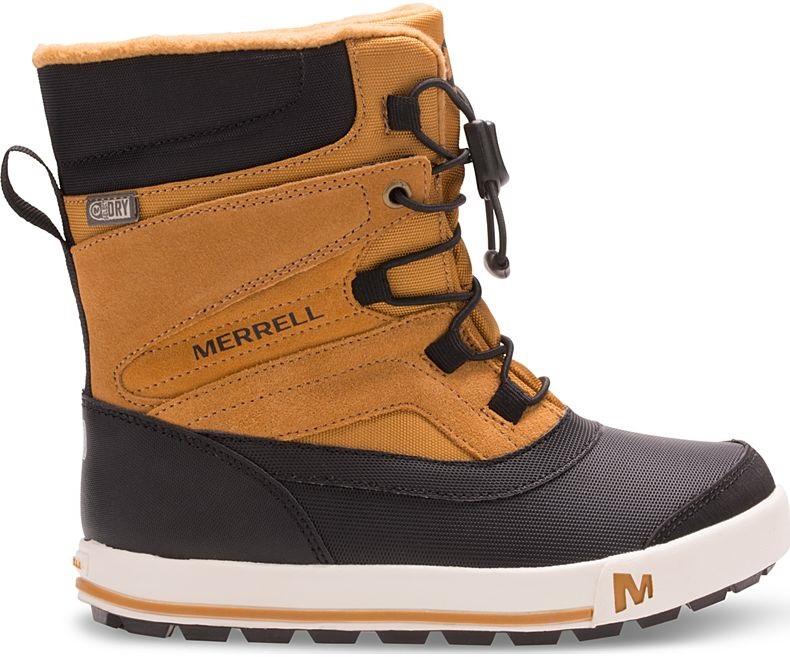 Merrell Snow Bank 2.0 WTPF Kid's Winter Boots, UK Child 12 Wheat/Black