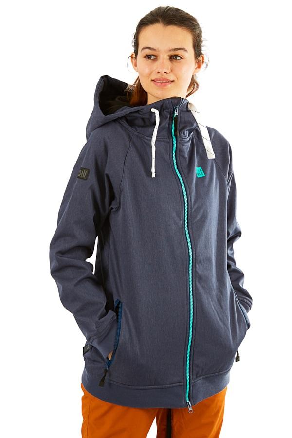 Planks Reunion Women's Ski/Snowboard Jacket, M Heather Navy