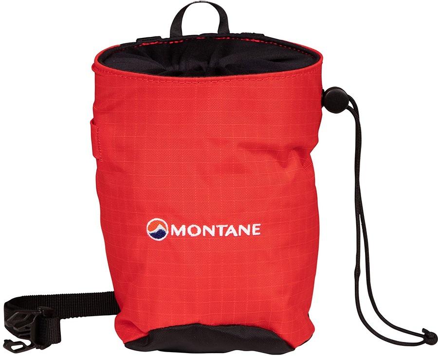 Montane Finger Jam Rock Climbing Chalk Bag, One Size Flag Red