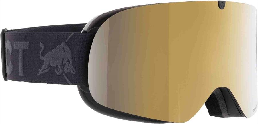 Red Bull Spect Tranxformer Gold Snow Snowboard/Ski Goggles M/L Black