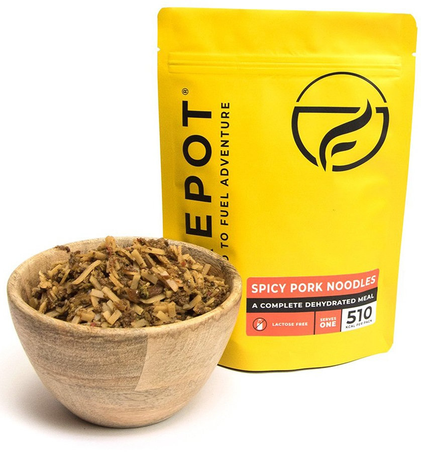 Firepot Spicy Pork Noodles Camping & Backpacking Food, Single Pouch