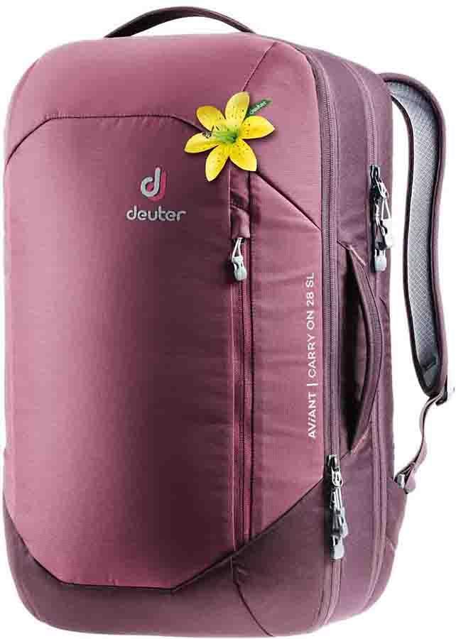 Deuter Aviant Carry On 28 SL Travel Backpack, 28L Maron/Aubergine
