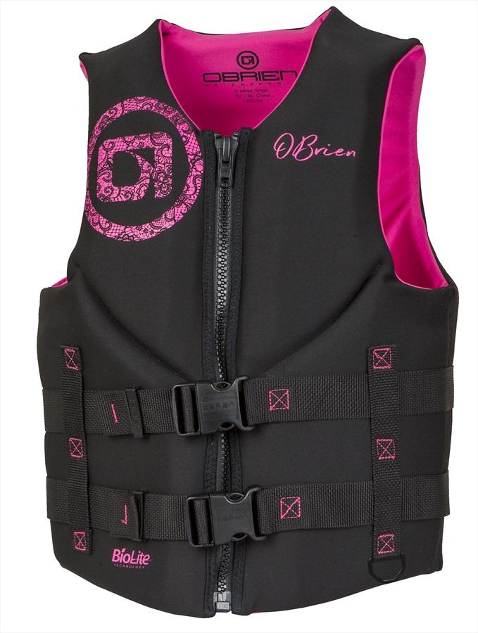 O'Brien Ladies Traditional Biolite Buoyancy Aid / Vest, XS Bl Pink