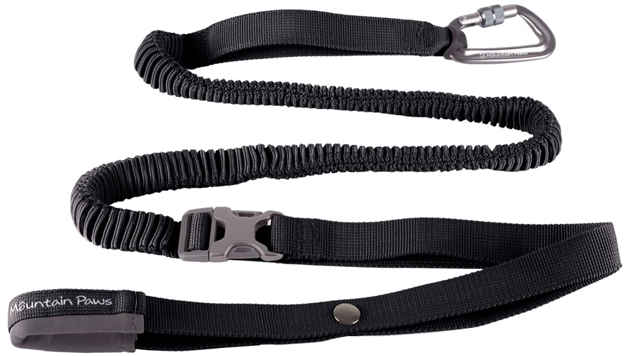 Mountain Paws Shock Absorber Dog Lead Waist-Worn Pet Leash Black
