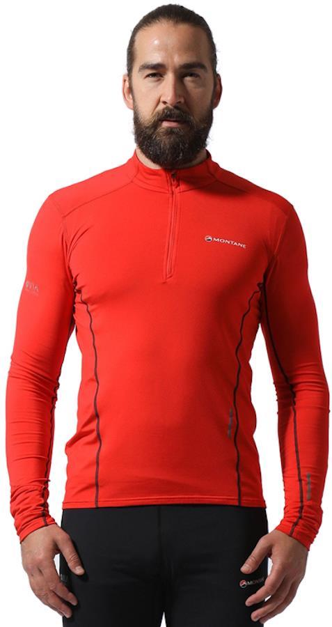 Montane Dragon Pull-On Men's Running Fleece/Top, L Flag Red