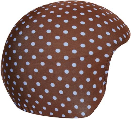 Coolcasc Printed Cool Ski/Snowboard Helmet Cover, Brown/Blue Dots