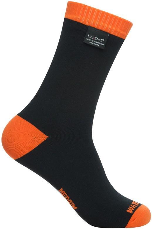 DexShell Thermlite Waterproof Socks UK 12-14 Tangelo Red / Black