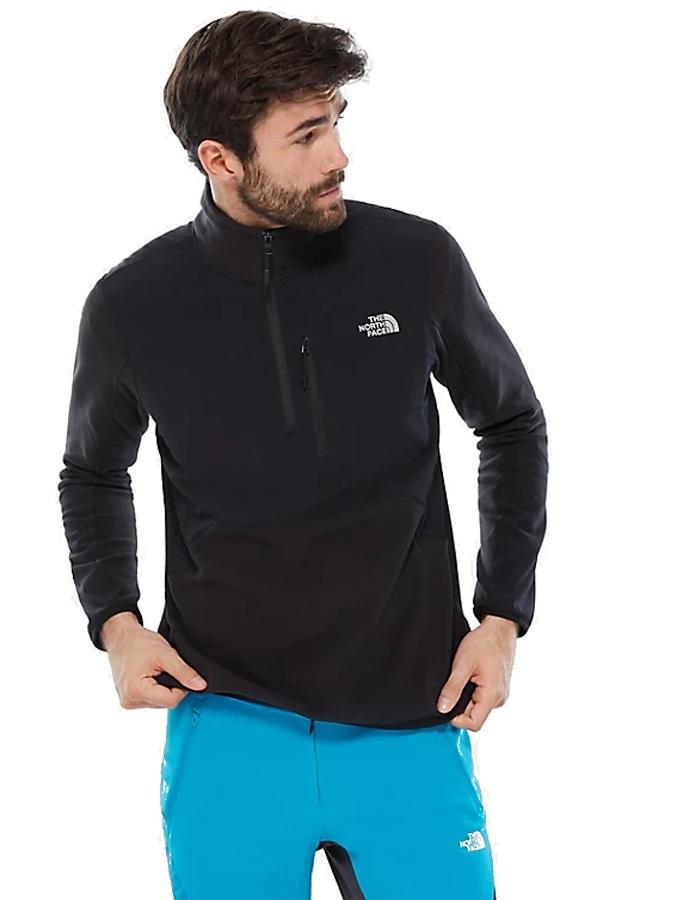The North Face Adult Unisex Glacier Pro 1/4 Zip Fleece Jacket, S Tnf Black