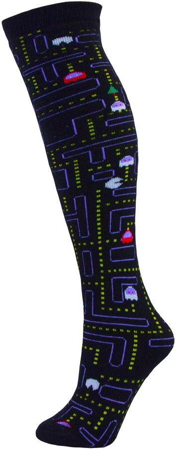 Manbi Pattern Ski/Snowboard Tube Socks UK 4-11 Sno Man Black