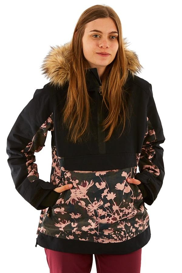 Roxy Shelter Women's Snowboard/Ski Jacket, S True Black Poppy