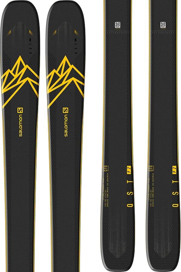 Salomon QST 92 Ski Only Skis, 153cm Yellow/Blue 2020