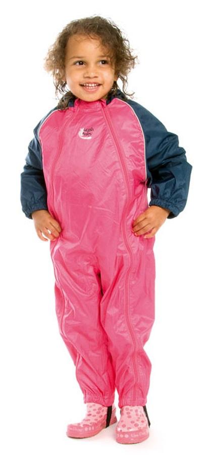 Bushbaby Splashsuit Baby/Kids Waterproof One Piece, 36 Months+ Pink