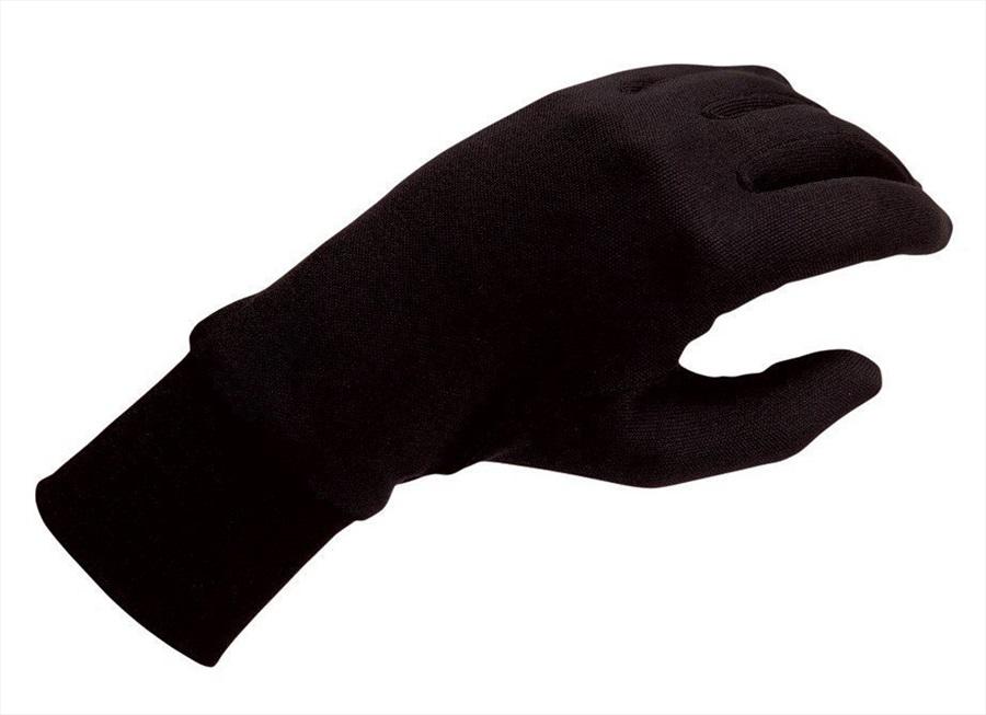 Silkbody Puresilk Ski/Snowboard Liner Gloves, XS Black