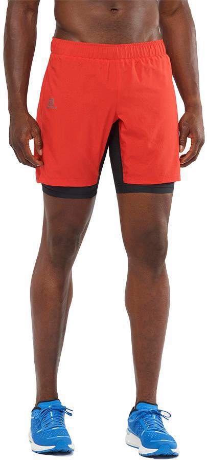 Salomon XA Twinskin Men's Gym/Running Shorts, M Goji Berry