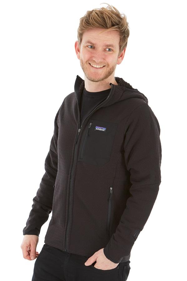 Patagonia R2 TechFace Hoody Softshell Jacket, S Black