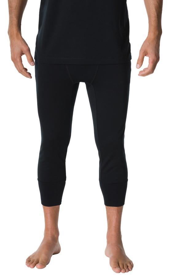 FW Raw 3/4 Jogger Winter Base Layer Pants, L Black