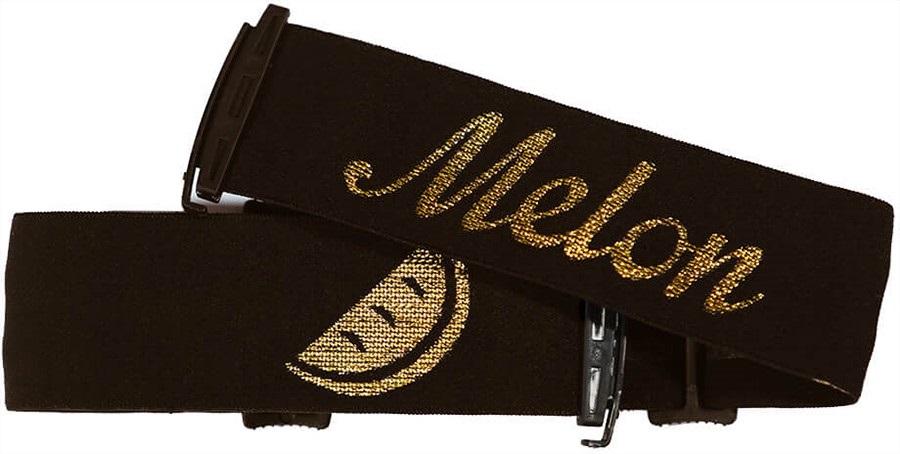 Melon Ski/Snowboard Goggle Strap, One Size Black/Gold
