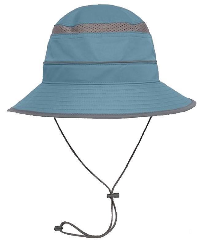 Sunday Afternoons Solar Bucket Wide-Brimmed Sun Hat, L Bluestone