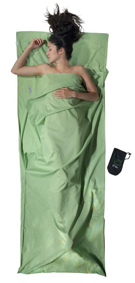 Cocoon TravelSheet Organic Cotton Sleeping Bag Liner, Regular Forest